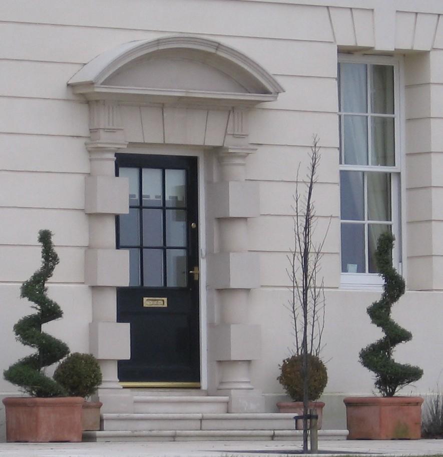 Stone door pillars & The Best Front Door Surrounds \u2013 Vibrant Doors Blog Pezcame.Com