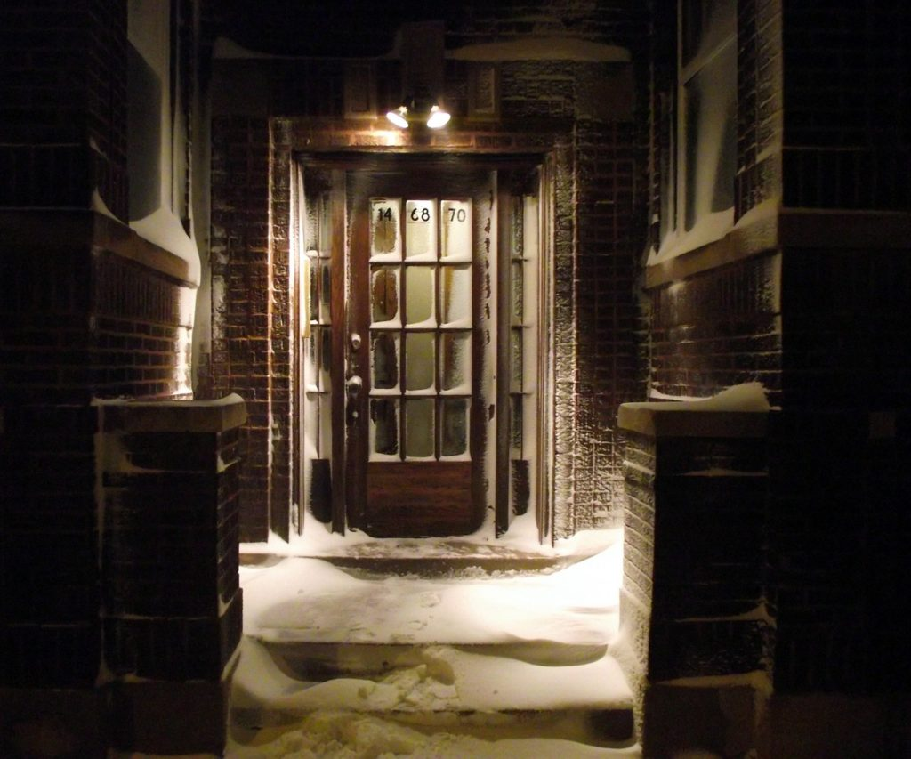 Door in snow
