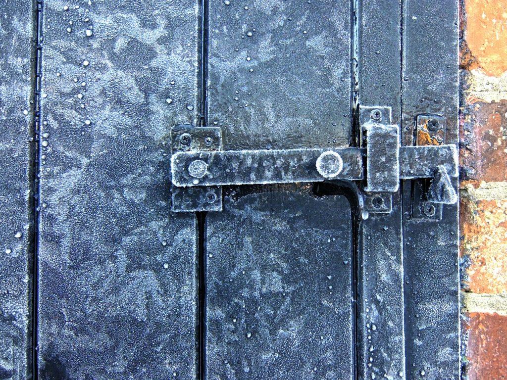 door in frost