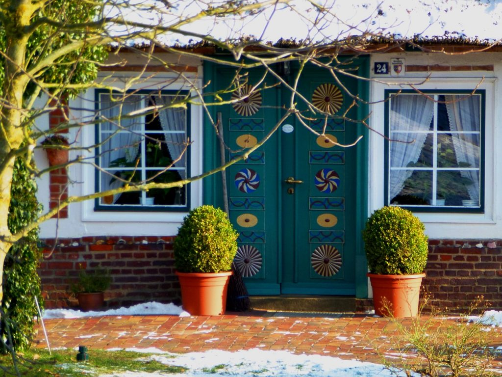 Front door in winter