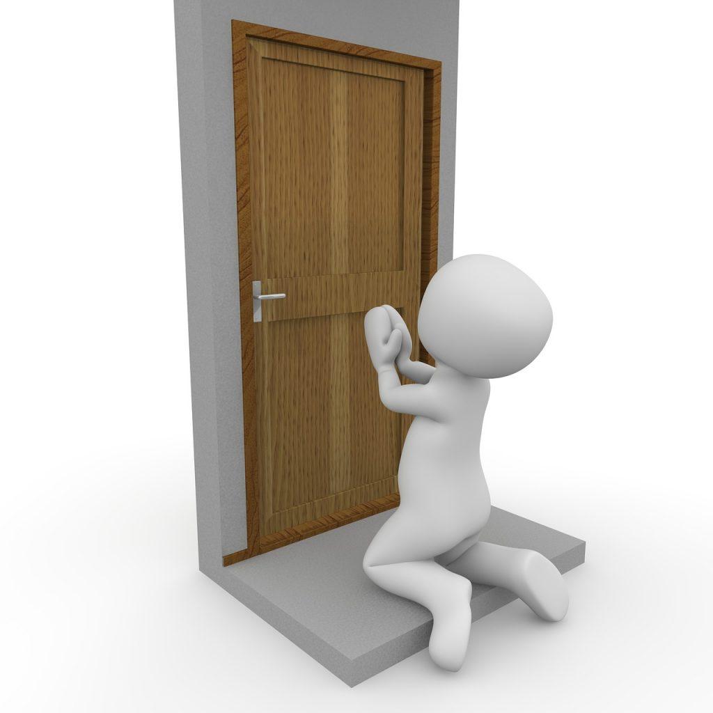door handle locked out
