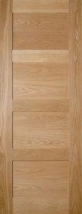 prefinished wooden door