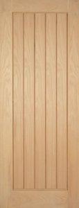 unfinished wooden door