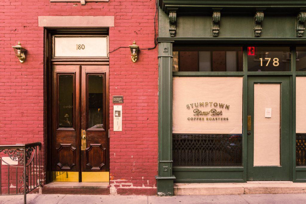 Coffee shop door