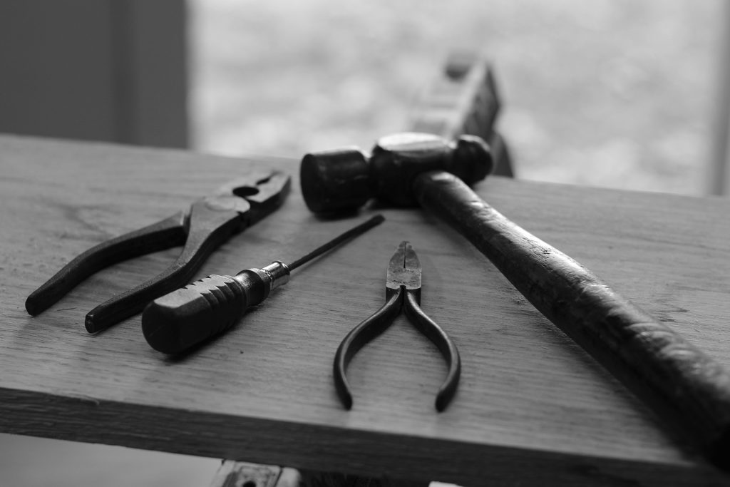 Tools on a board