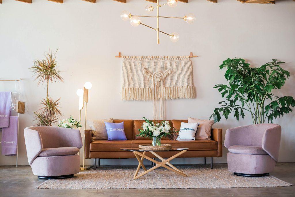 Scandinavian inspired living room interior