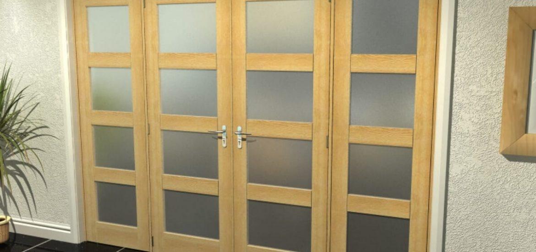Shaker-style internal French doors