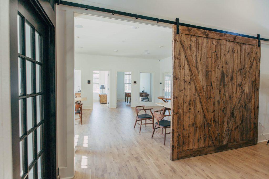 Wooden internal barn style door