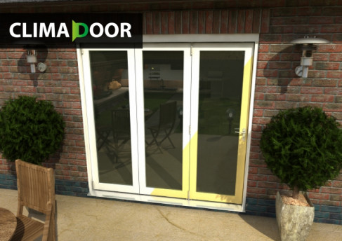 Select White Primed Bifold Doors - CLIMADOOR: 54mm White primed finish External Doorset Image