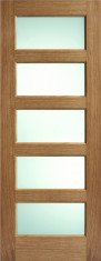 Oak Contemporary 5L Glazed - Clear Prefinished