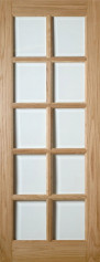 Bristol 10 Light Glazed Oak Door