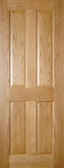 Bury 4 Panel Oak Door - Prefinished