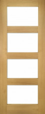 Coventry Prefinished Shaker Glazed Oak Door - Clear