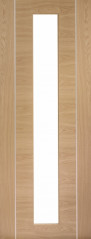 Forli Oak Glazed Door - PREFINISHED