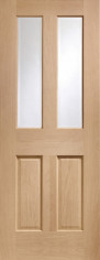 Malton Oak Glazed Door  - PREFINISHED