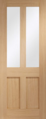 Malton Oak Shaker Glazed Door