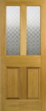Malton Screenprint Glazed Oak Door