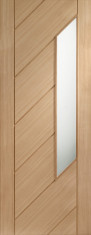 Monza Oak Glazed Door