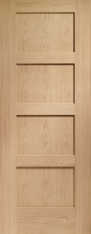 Oak Shaker 4 Panel Door - PREFINISHED