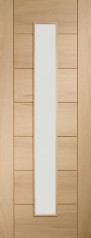 Palermo Oak 1 Light Glazed Door - PREFINISHED