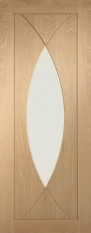 Pesaro Oak Glazed Door - PREFINISHED