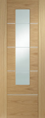 Portici Oak Glazed Door - PREFINISHED