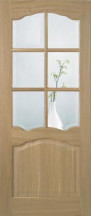 Prefinished Riviera 6L Glazed Oak Door