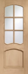 Riviera Oak Glazed Door Rm2S - Xl
