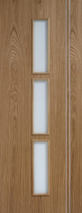 Sierra Oak Glazed Door