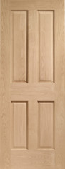 Victorian 4 Panel Oak Door - PREFINISHED
