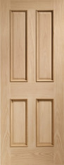 Victorian Oak 4 Panel Door Rm2S