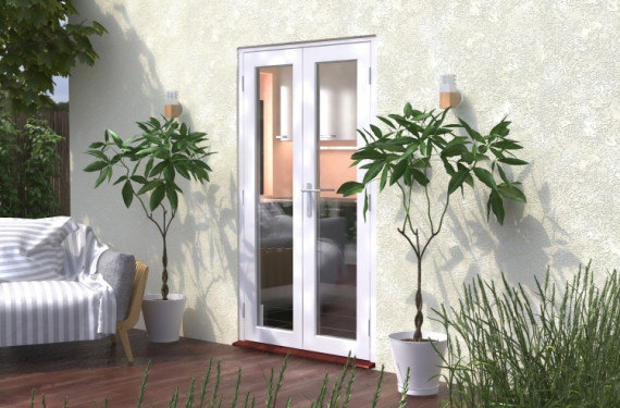 1200mm (4ft) Classic White French Doors - Climadoor