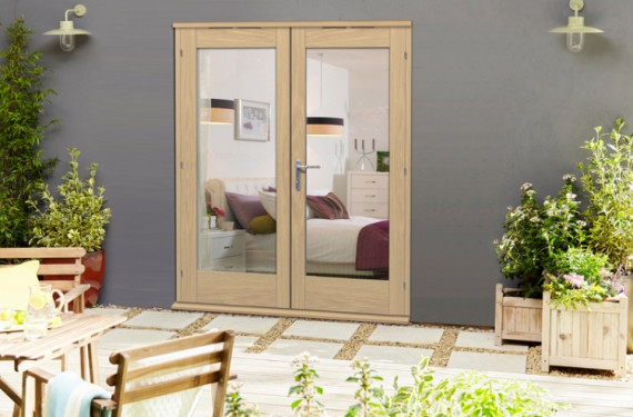 1800mm ( 6ft ) Elite Oak French Doors