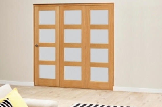 Frosted Prefinished 4l Roomfold Deluxe (1800mm Set)