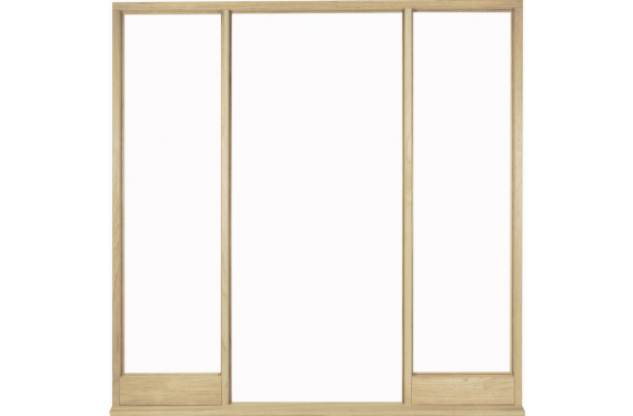 Universal Oak Vestibule Frame For Direct Glazing