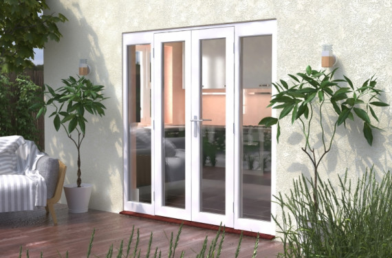 2100mm (7ft) Classic French Doors - 1200 Pair With 2 X 450mm Sidelights