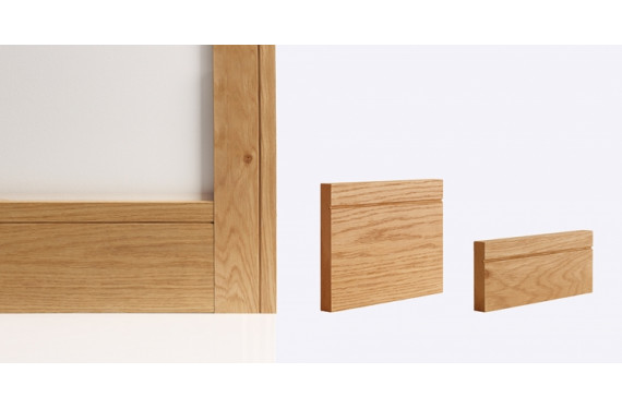 Shaker Skirting Board 147mm X 16mm X 3600mm