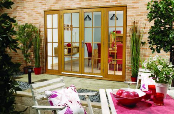 2700mm (9ft) Fully Finished Oak 8 Lite - 1500 Pair + 2 X 600mm Sidelights