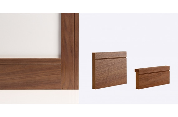 Walnut Shaker Architrave 80mm X 16mm (set Covers Both Sides Of The Door)