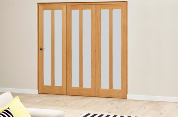Aston Frosted- 3 Door Roomfold Deluxe ( 3 X 610mm Doors )