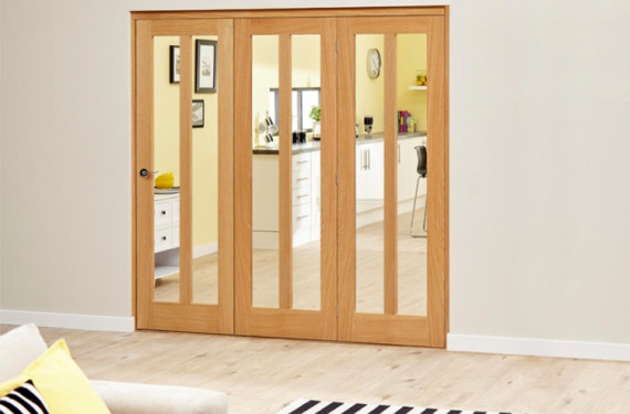 Aston Oak - 3 Door Roomfold Deluxe (3 X 610mm Doors )