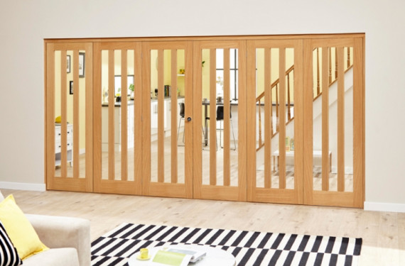 Aston Oak - 6 Door Roomfold Deluxe (3 + 3 X 686mm Doors)