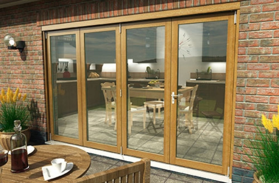 Climadoor Solid Oak Bifold Door 3000mm (10ft)