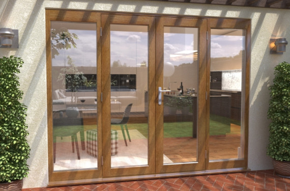 Climadoor Solid Oak French Doors 1500 Pair With 2 X 600mm Sidelights