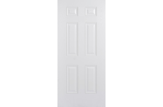 Colonial 6P White Composite Door