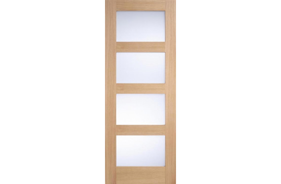 Contemporary 4L Oak Frosted Glass