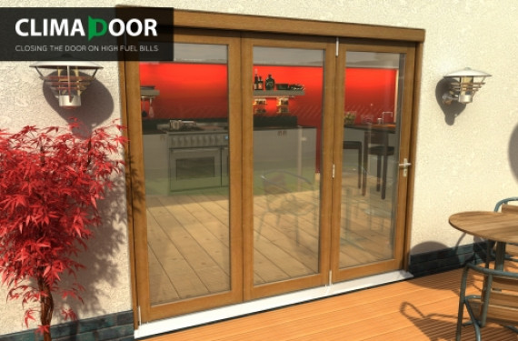 Elite Oak Bifold Doors 2400mm (8 Ft)