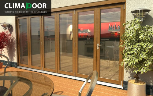 Elite Oak Folding Doors - Climadoor