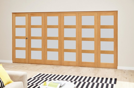 Frosted Prefinished 4l Roomfold Deluxe (5 + 1 X 686mm Doors)