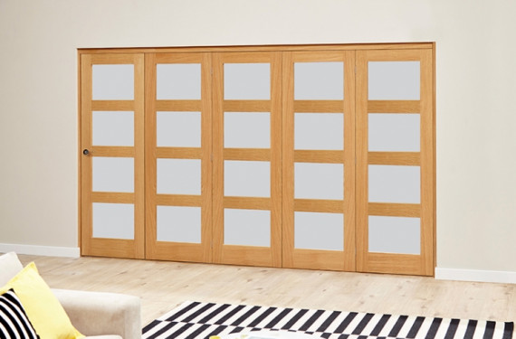 Frosted Prefinished 4l Roomfold Deluxe (5 X 686mm Doors)